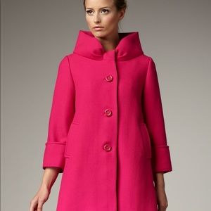 Kate spade Cherie pink coat wool bow detailed